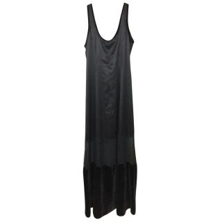 Alberta Ferretti long black silk dress