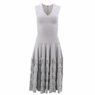 Alaia Grey Frilled Dress
