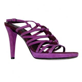 Sergio Rossi Purple Suede Heels