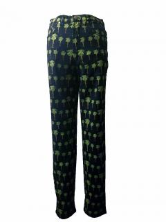 Versace Palm tree pattern printed jeans