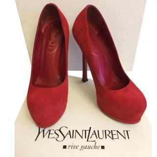 Yves Saint Laurent Tribtoo suede pumps