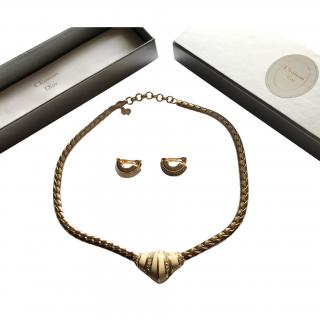 Christian Dior 18ct Gold Plated Neclace and Earings Set