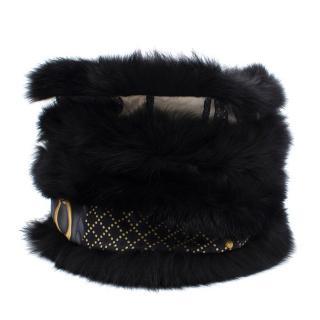 Gucci Black Fox Fur Ring Scarf