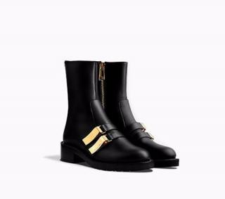Dior black gold buckle boots new season