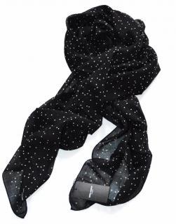 Saint Laurent black wool polkadot scarf
