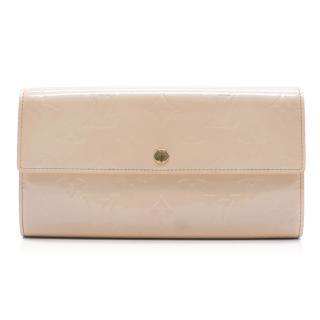 Louis Vuitton Monogram Patent Leather Peach Wallet