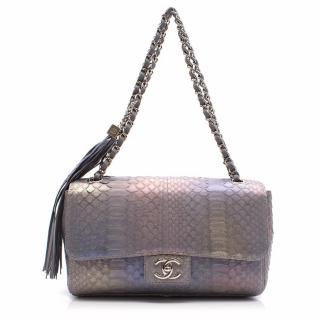 Chanel Medium Rainbow Python Soho Flap Bag