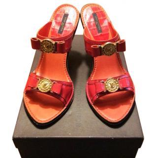 Louis Vuitton patent leather sandals