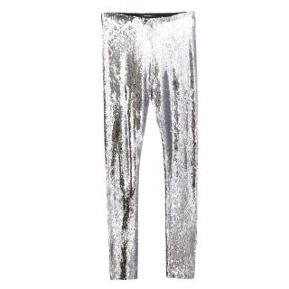 Isabel Marrant Silver Sequined trousers