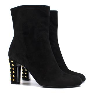 Gucci Ankle Boots With Spiked Block Heels