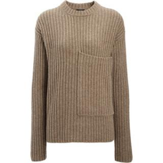 Joseph Military Taupe ribbed jumper -current
