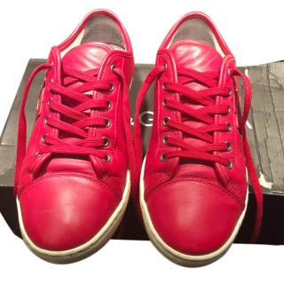 Dolce&Gabanna red leather sneakers
