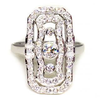 Vintage 18ct White Gold 0.75ct Diamond Ring