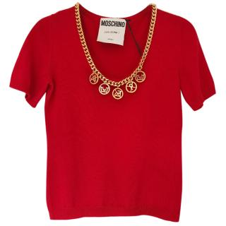 Moschino Gold Chain Jumper