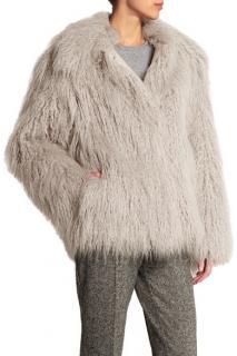Stella McCartney Thelma Mongolian faux fur coat