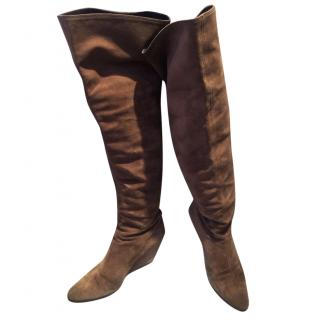 Giuseppe Zanotti Beige Suede Over-the-knee Boots