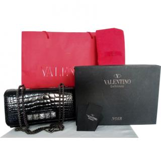Valentino Vavavoom black alligator limited edition