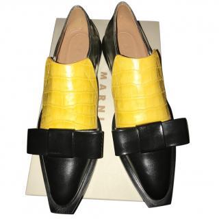Marni yellow/black mocassins