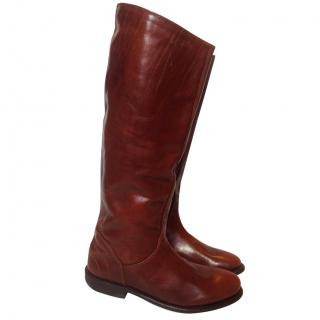 Bikkembergs leather riding boots