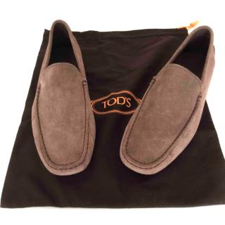 Tod's brown suede driving shoes