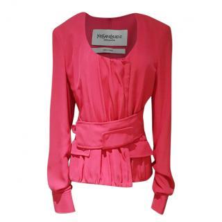 YSL Tom Ford era cerise pink jacket
