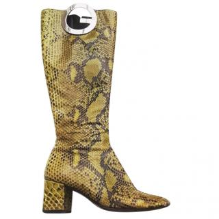 Gucci Tom Ford Python boots 1990's
