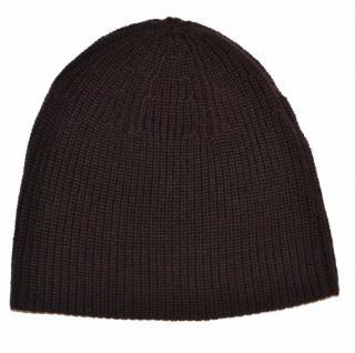Ralph Lauren Black Label ribbed brown wool hat