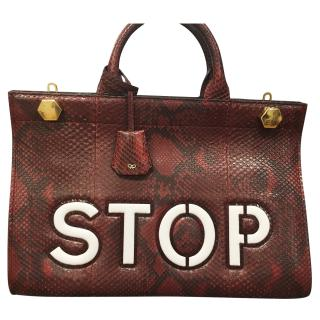 Anya Hindmarch Ephson Stop Python Top Handle Satchel