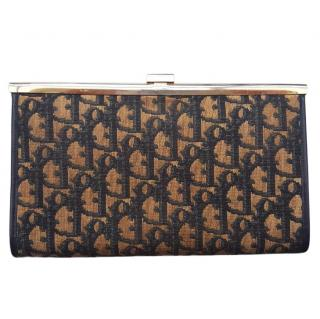 Christian Dior vintage monogram clutch bag