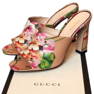 Gucci Marine Floral-Print Slide Sandal