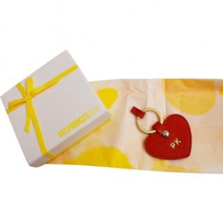 Mulberry Heart Keyring 'PK' Engraved
