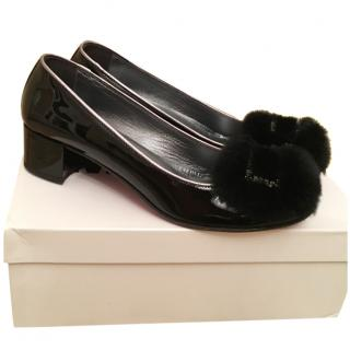 NEW MISSOURI patent leather shoes with fur