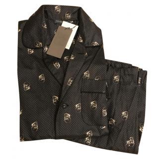 Alexander McQueen Skull Print Cotton Pyjamas