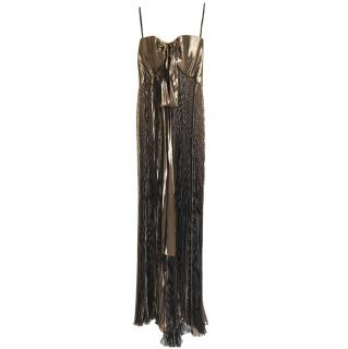 Roberto Cavalli metallic gown