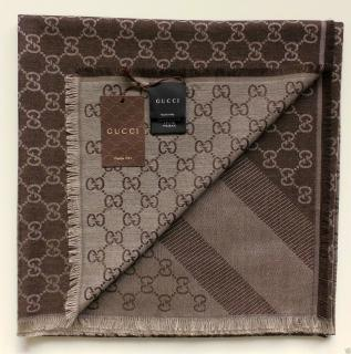 Gucci Brown Scarf   NEW. WITH RECEIPT