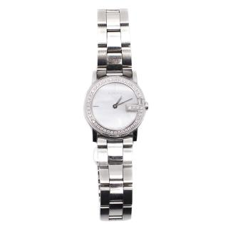Gucci Watch Stainless Steel Sapphire Crystal and Diamond Encrusted