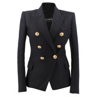 Balmain Double Breasted Black Blazer