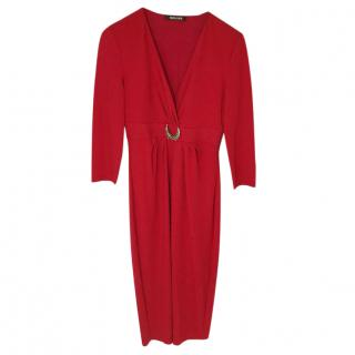 Roberto Cavalli Red Evening Dress