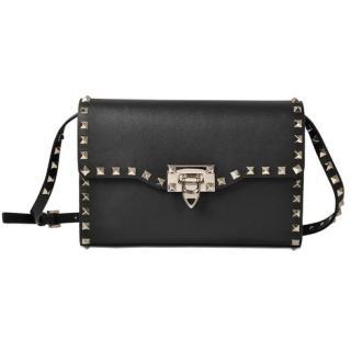 Valentino Black Rockstud Crossbody Bag