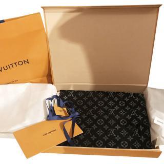 Louis Vuitton BLACK & SILVER MONOGRAM SHINE SHAWL