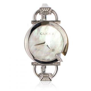 Gucci Horsebit Diamond Watch