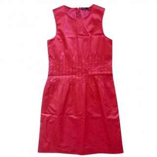 Theory red satin dress