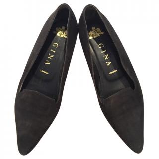 Gina black suede shoes