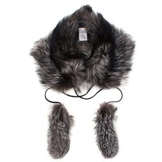 Gucci Grey Fox Scarf