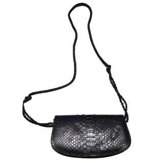 Maje black python bag