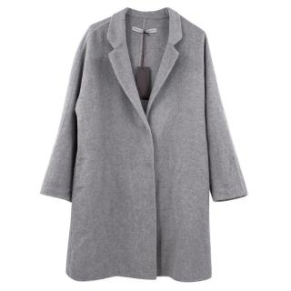 Ermanno Scervino Grey Angora Coat