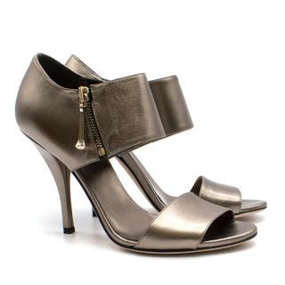Gucci Silver Sandals