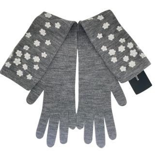 Dolce & Gabbana grey wool gloves
