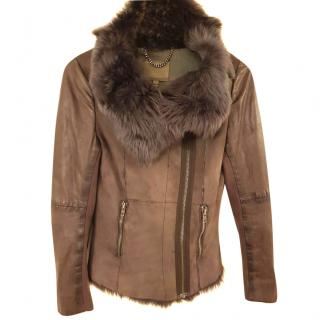 Muubaa suede and leather jacket