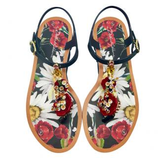 Dolce & Gabbana crystal beach sandals
